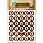 Bottle Cap Inc - Vintage Edition Collection - Bottle Cap Images - Vintage Circus Alphabet - 1 Inch