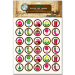 Bottle Cap Inc - Vintage Edition Collection - Bottle Cap Images - Funky Christmas - 1 Inch