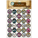 Bottle Cap Inc - Vintage Edition Collection - Bottle Cap Images - Paper Letters - 1 Inch