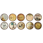 Bottle Cap  Inc - Vintage Edition Collection - Bottle Cap Images - Paris Passport - 1 Inch