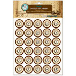 Bottle Cap Inc - Vintage Edition Collection - Bottle Cap Images - Typewriter Map - 1 Inch
