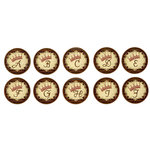 Bottle Cap  Inc - Vintage Edition Collection - Bottle Cap Images - Vintage Crown Alphabet - 1 Inch
