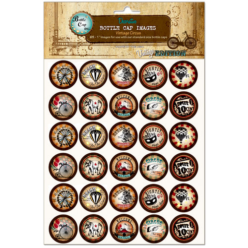 Bottle Cap Inc - Vintage Edition Collection - Bottle Cap Images - Vintage Circus - 1 Inch