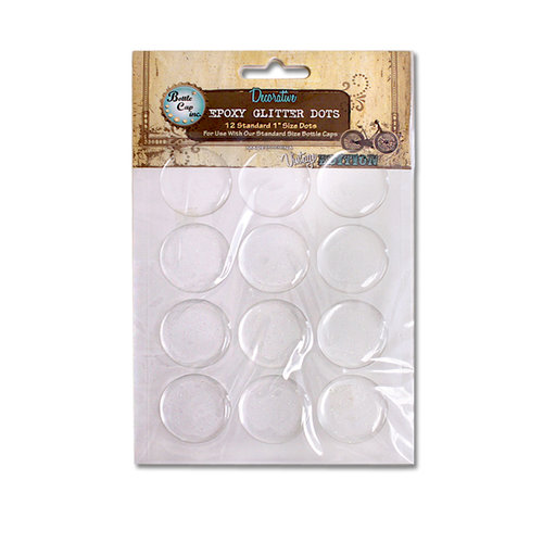 Bottle Cap Inc - Vintage Edition Collection - Epoxy Dots - Glitter - 1 Inch