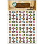 Bottle Cap Inc - Vintage Edition Collection - Bottle Cap Images - Vintage Paper Alphabet - .5 Inch