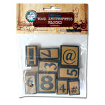 Bottle Cap Inc - Vintage Edition Collection - Altered Art - Wood Letter Press Blocks - Numbers and Symbols