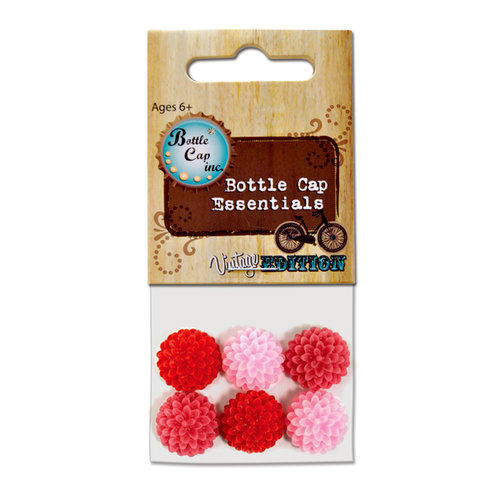 Bottle Cap Inc - Vintage Edition Collection - Acrylic Flowers - .5 Inch