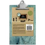 Bottle Cap Inc - Home Decor Essentials - 6 x 9 Clipboard - Weathered Blue