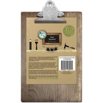 Bottle Cap Inc - Home Decor Essentials - 6 x 9 Clipboard - Weathered Wood