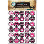 Bottle Cap Inc - Bottle Cap Images - Go Pink 2 - 1 Inch