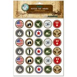 Bottle Cap Inc - Vintage Edition Collection - Bottle Cap Images - Military Icons - 1 Inch