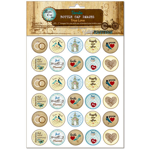 Bottle Cap Inc - Vintage Edition Collection - Bottle Cap Images - True Love - 1 Inch