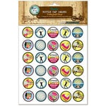 Bottle Cap Inc - Vintage Edition Collection - Bottle Cap Images - Volleyball Star - 1 Inch