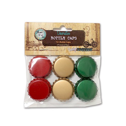 Bottle Cap Inc - Vintage Edition Collection - Bottle Caps - Distressed - Christmas