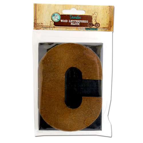 Bottle Cap Inc - Vintage Edition Collection - Altered Art - Large Letter Press Block - C