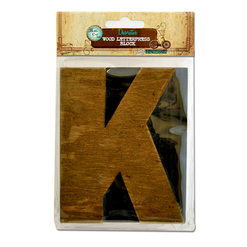 Bottle Cap Inc - Vintage Edition Collection - Altered Art - Large Letter Press Block - K
