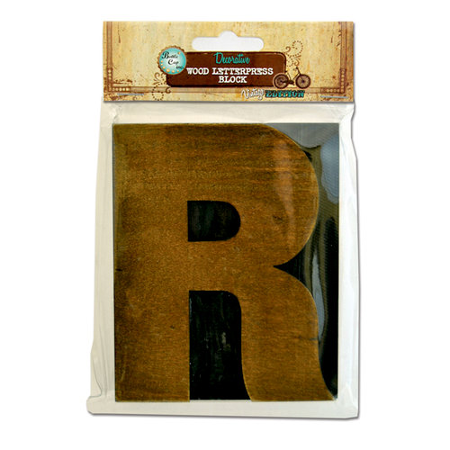 Bottle Cap Inc - Vintage Edition Collection - Altered Art - Large Letter Press Block - R