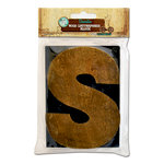 Bottle Cap Inc - Vintage Edition Collection - Altered Art - Large Letter Press Block - S