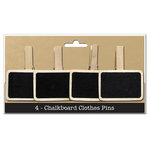 Bottle Cap Inc - Home Decor Essentials - 4 Chalkboard Clothes Pins