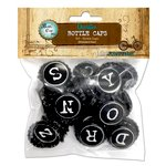 Bottle Cap Inc - Bottle Caps - Typewriter - 50 Pieces - 1 Inch
