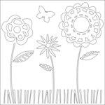 Ranger Ink - Studio by Claudine Hellmuth - 6 x 6 Stencil - Summer Garden