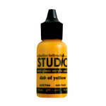 Ranger Ink - Studio by Claudine Hellmuth - Semi-Gloss Acrylic Paint - Dab of Yellow - .5 ounces
