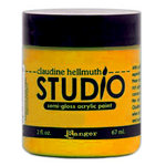 Ranger Ink - Studio by Claudine Hellmuth - Semi-Gloss Acrylic Paint - Dab of Yellow
