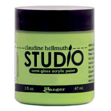 Ranger Ink - Studio by Claudine Hellmuth - Semi-Gloss Acrylic Paint - Landscape Green