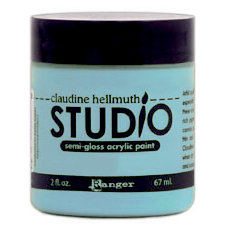 Ranger Ink - Studio by Claudine Hellmuth - Semi-Gloss Acrylic Paint - Sky Blue