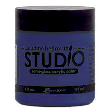 Ranger Ink - Studio by Claudine Hellmuth - Semi-Gloss Acrylic Paint - Smidge of Blue