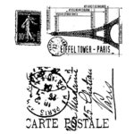 Stampers Anonymous - Tim Holtz - Rubber Stamps - I See Paris, BRAND NEW