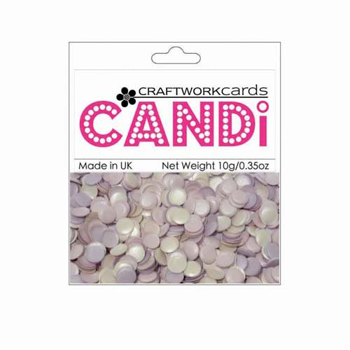 Craftwork Cards - Candi - Shimmer Paper Dots - Lavender and Lace