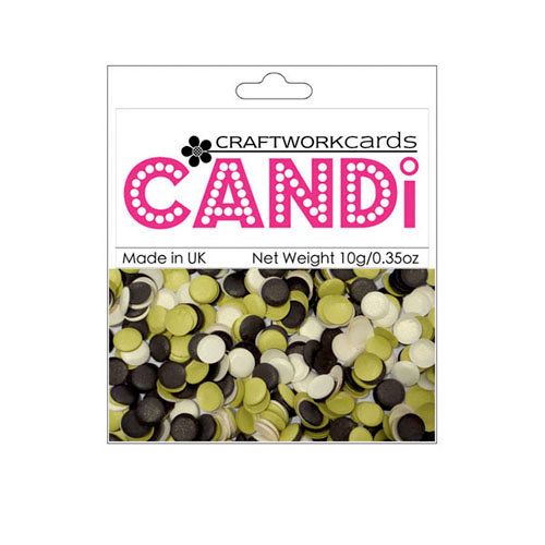 Craftwork Cards - Candi - Shimmer Paper Dots - Chocolate Limes