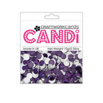 Craftwork Cards - Candi - Metallic and Shimmer Paper Dots - Purple Chocolate Box