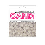 Craftwork Cards - Candi - Shimmer Paper Dots - Icing Sugar