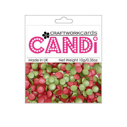 Craftwork Cards - Candi - Shimmer Paper Dots - Holly Berries