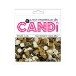 Craftwork Cards - Candi - Shimmer Paper Dots - Choc-a-Mocha