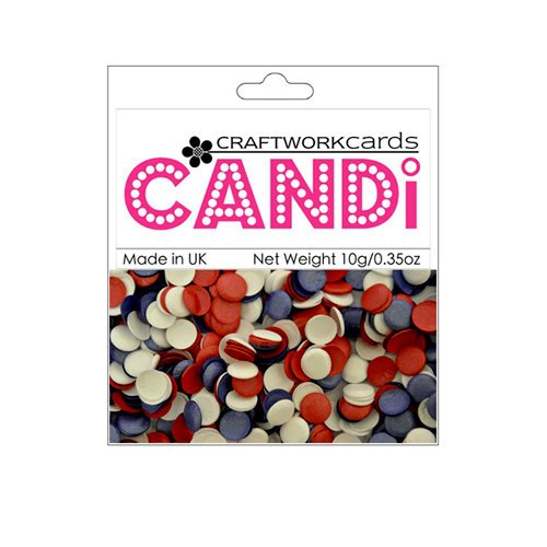 Craftwork Cards - Candi - Shimmer Paper Dots - Patriotic