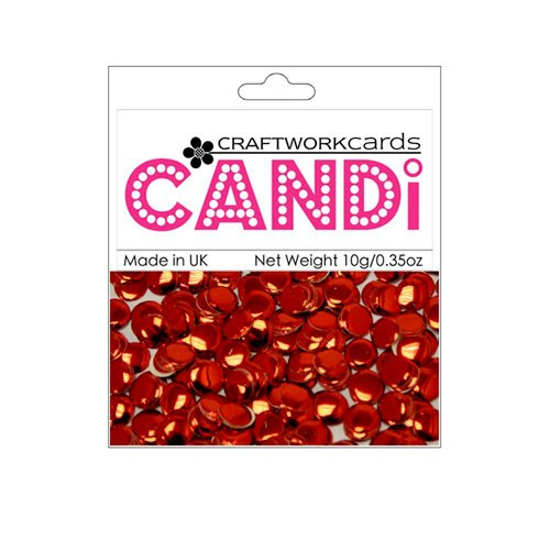 Craftwork Cards - Candi - Metallic Paper Dots - Regal Ruby