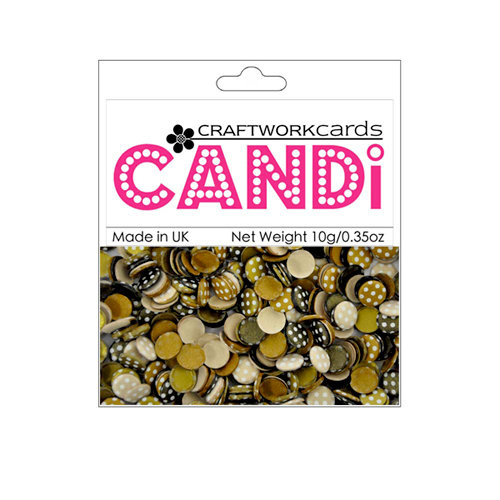 Craftwork Cards - Candi - Shimmer Paper Dots - Dotty Coffee Bean