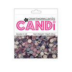 Craftwork Cards - Candi - Shimmer Paper Dots - Flower Pot Pourri
