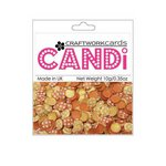Craftwork Cards - Candi - Shimmer Paper Dots - Flower Sunset Strip