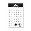 Craftwork Cards - Acrylic Stamps - Alphabet