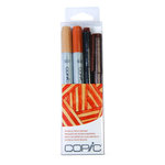 Copic - Marker Sets - Doodle Pack - Brown