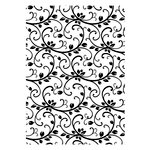 Couture Creations - Christmas Collection - A2 Embossing Folder - Christmas Vineyard