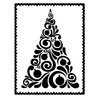 Couture Creations - Christmas Collection - A2 Embossing Folder - Fancy Christmas Tree