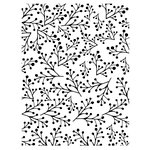 Couture Creations - Christmas Collection - 5 x 7 Embossing Folder - Twiggy Christmas