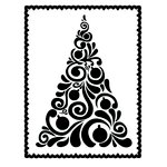 Couture Creations - Christmas Collection - 5 x 7 Embossing Folder - Fancy Christmas Tree