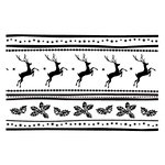 Couture Creations - Christmas Collection - 5 x 7 Embossing Folder - Reindeer Joy