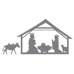 Couture Creations - Merry Little Christmas Collection - Intricutz Dies - Nativity Scene
